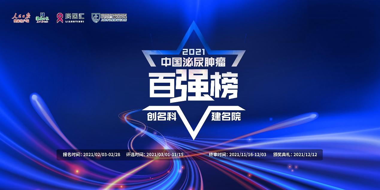 """【创名科 建名院】""""2021年度中国泌尿肿瘤百强榜""""项目正式启动!"""